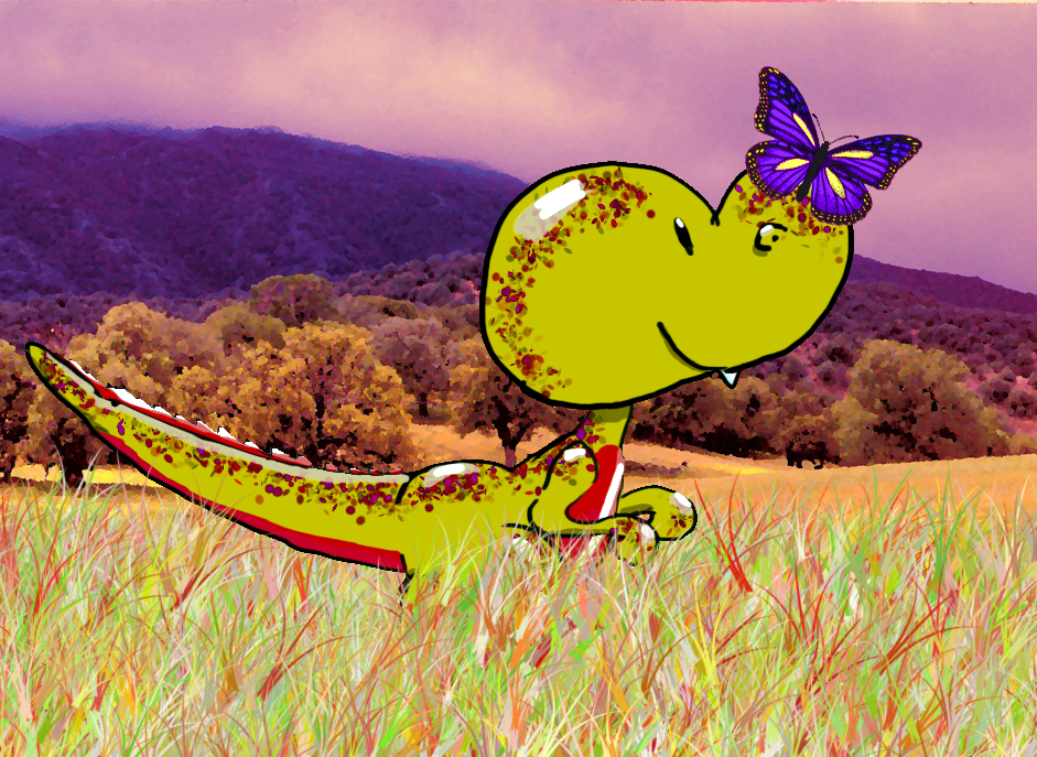 Dino and Butterfly