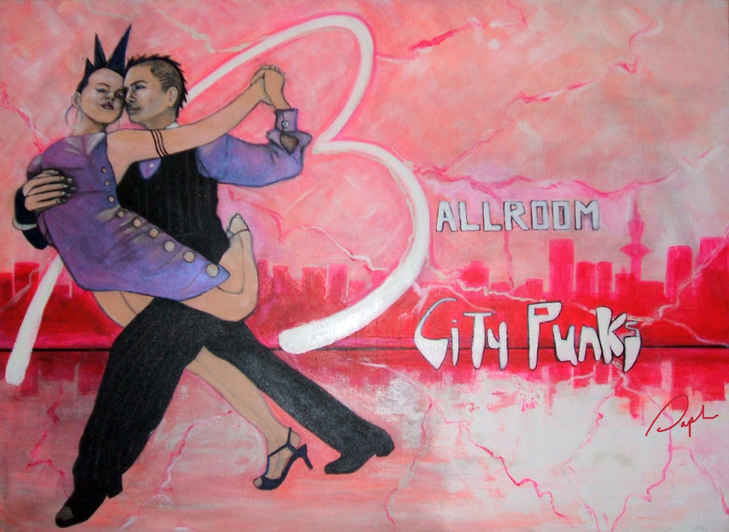 Ballroom city punks original signed by TerreDada