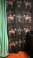 curtain screen printing by TerreDada