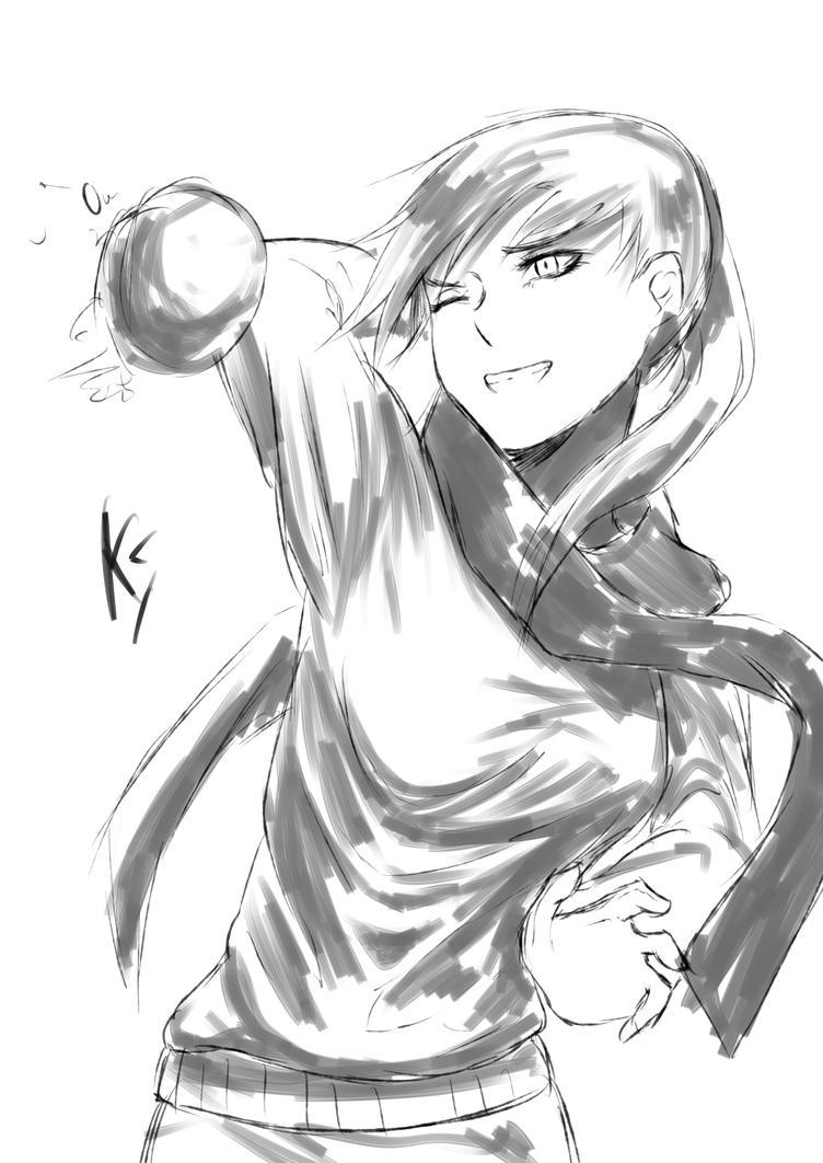 Throw snowball by KatohHiki