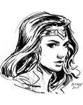 Wonder Woman sketch portrait
