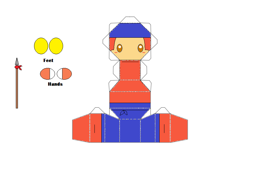 Waddle Dee Chibi Papercraft By Thestickfigureking On Deviantart