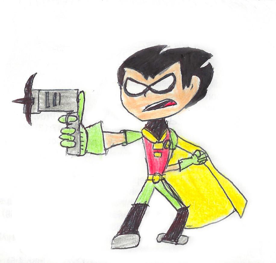 Teen Titans Go! Robin by TheStickFigureKing