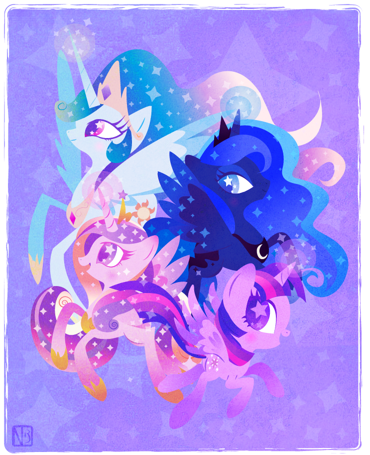 Alicorn rave party by DisfiguredStick