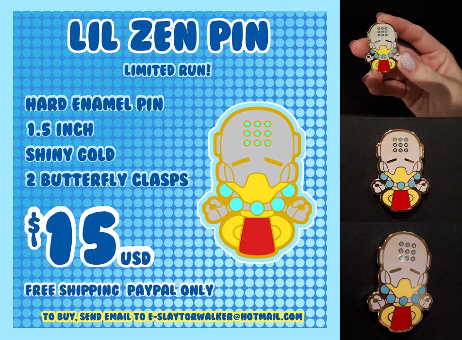 SOLD OUT: Lil' Zen enamel pin by DisfiguredStick