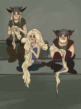 how many vikings does it take to braid hair