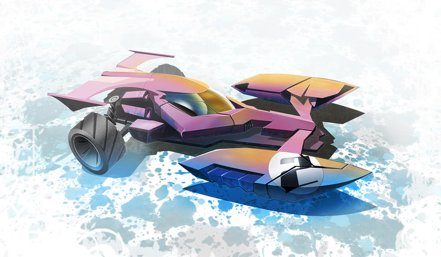 Hot Wheels Racer Concept One by mikelyden