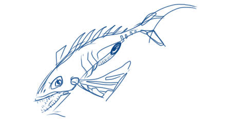 Sketch a Mechanical Fish by mikelyden