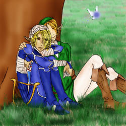 LinkxSheik - time to relax by ryttu3k
