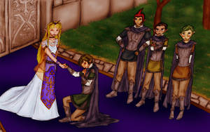 The Swearing In of the Hylian Knights by ryttu3k