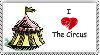 I Love The Circus Stamp. by mercipourlevenin92