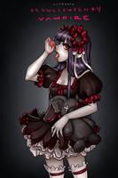 Drawlloween #4: the Vampire by hotbento
