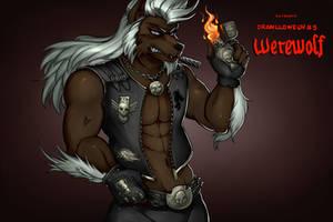 Drawlloween #5: the Werewolf by hotbento