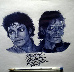 Michael Jackson (Thriller) by tamster305