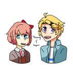 Yoosung and Sayori (DDLC and MM)