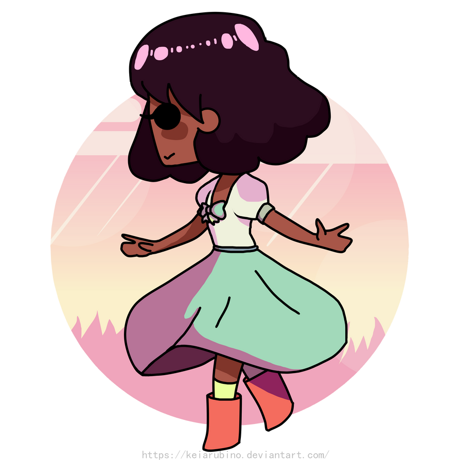 Connie with her new hairstyle and that old dress I really love :3