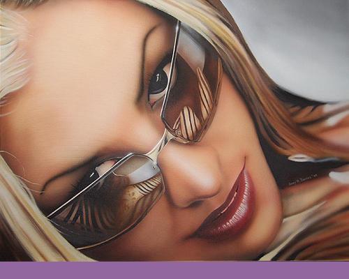 Anastasia on canvas by davyace