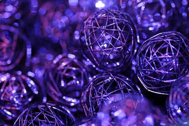 Violet abstract by Yollanda
