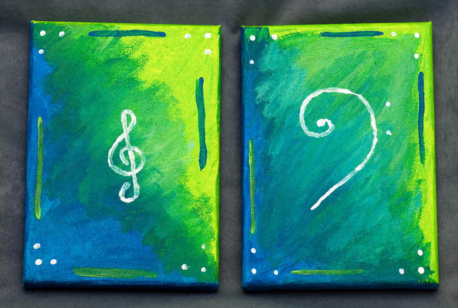 Music is the key diptych