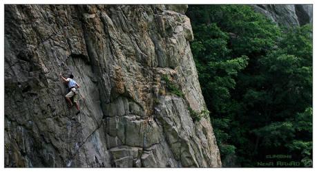 Climbing near Arnad