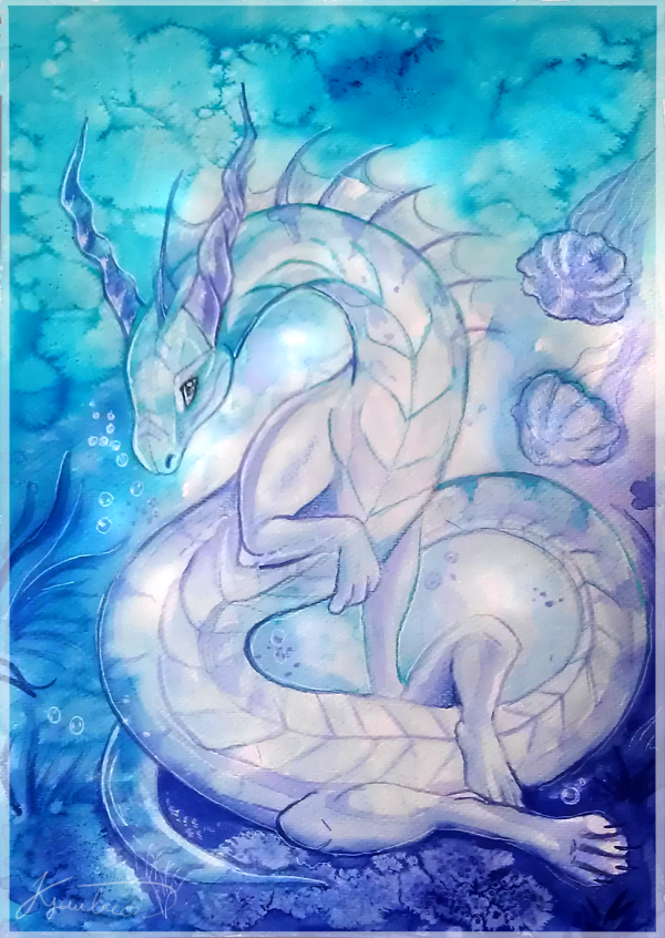 Underwater dragon by Kyuubreon on DeviantArt