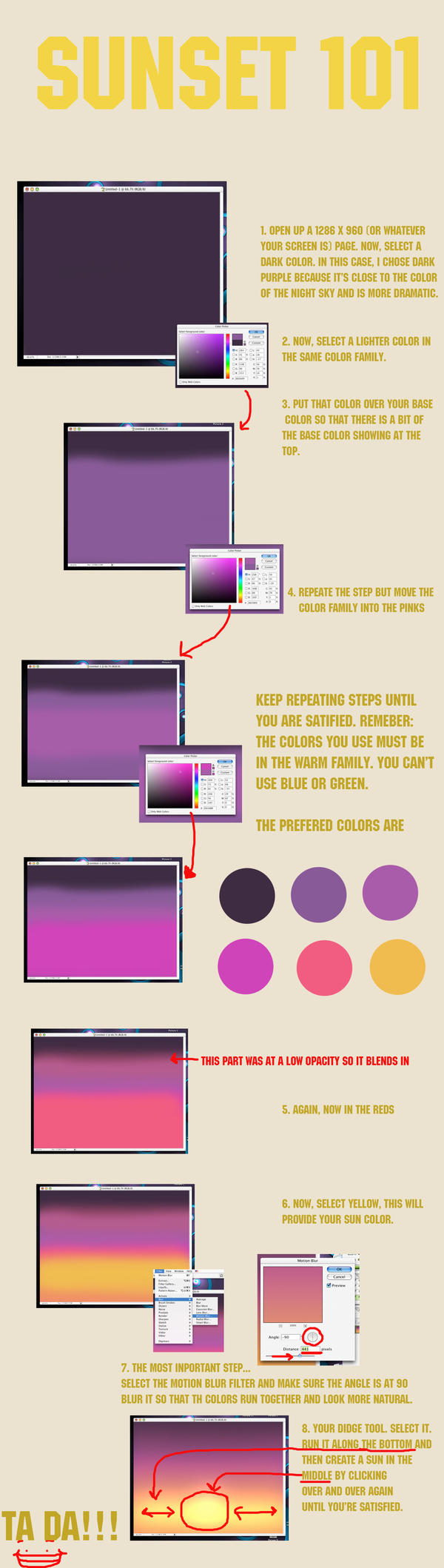 Sunset Tutorial 101 by WisdomsPearl