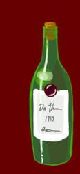 Wine Bottle Study by WisdomsPearl