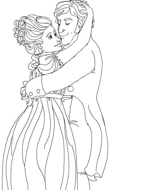 Coloring Pages For Couples : coloring Page: Regency Couple by WisdomsPearl on DeviantArt