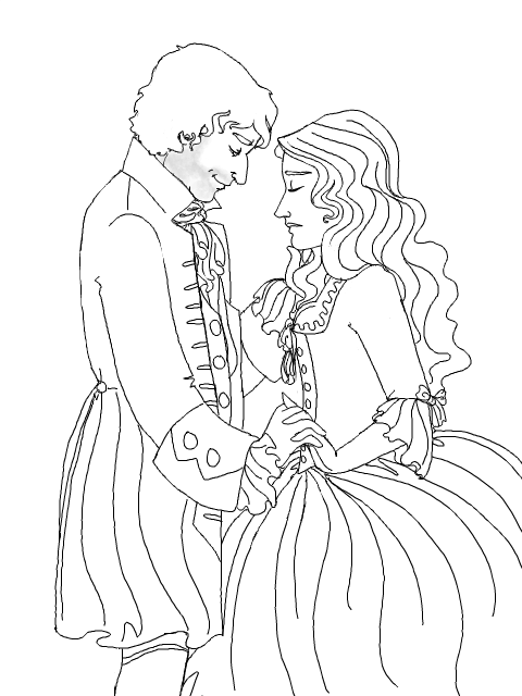 anime couples coloring pages - coloring page rococo couple by wisdomspearl on deviantart