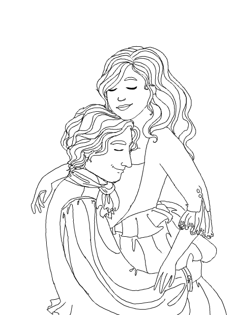couples2 free coloring pages - photo#9