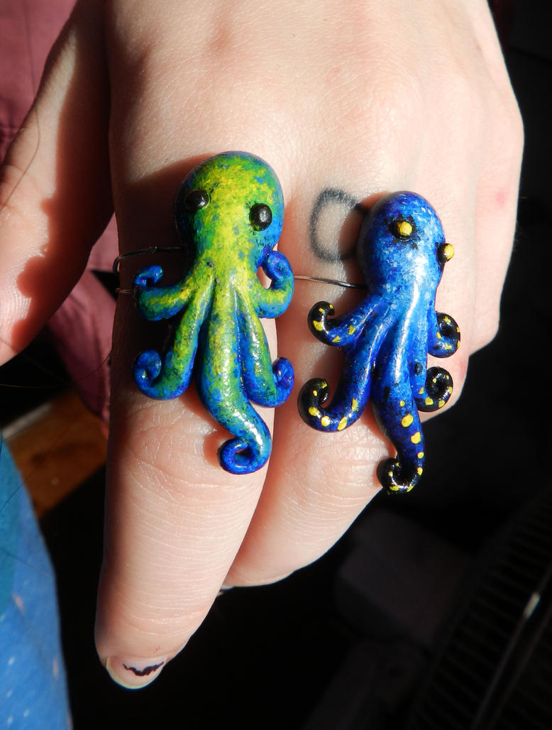 Octopus Rings by PoisonJARCreations