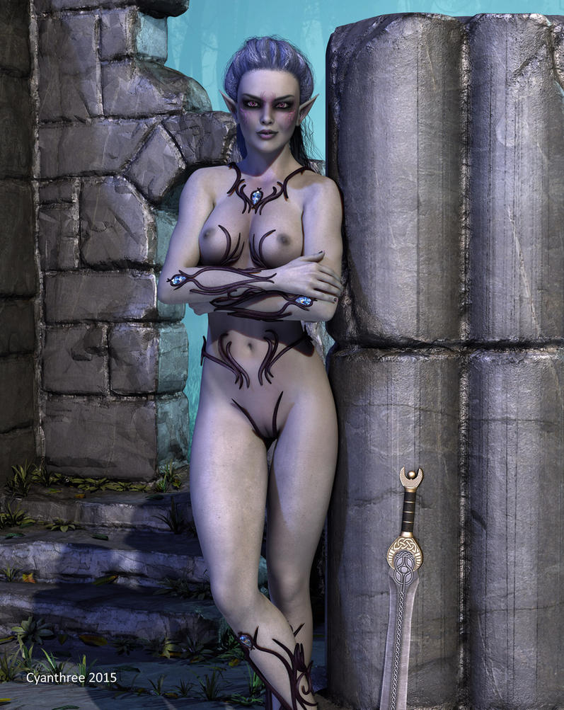 Sinaena Melviir - Profile of a Drow Assassin (4) by cyanthree