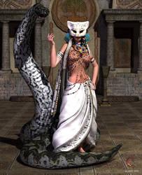 Serpent Priestess by cyanthree