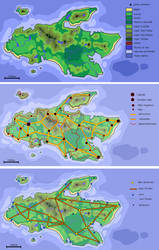 Ile de Lubicity cartographie by Nyarlah