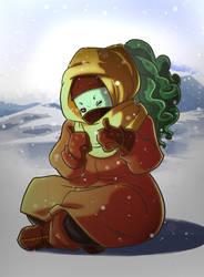Enjoy the snow by Nyarlah