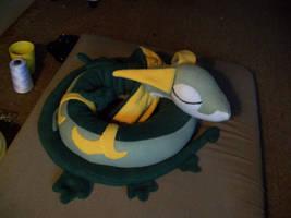 Sleepy Serperior plush by DarkDragonKai
