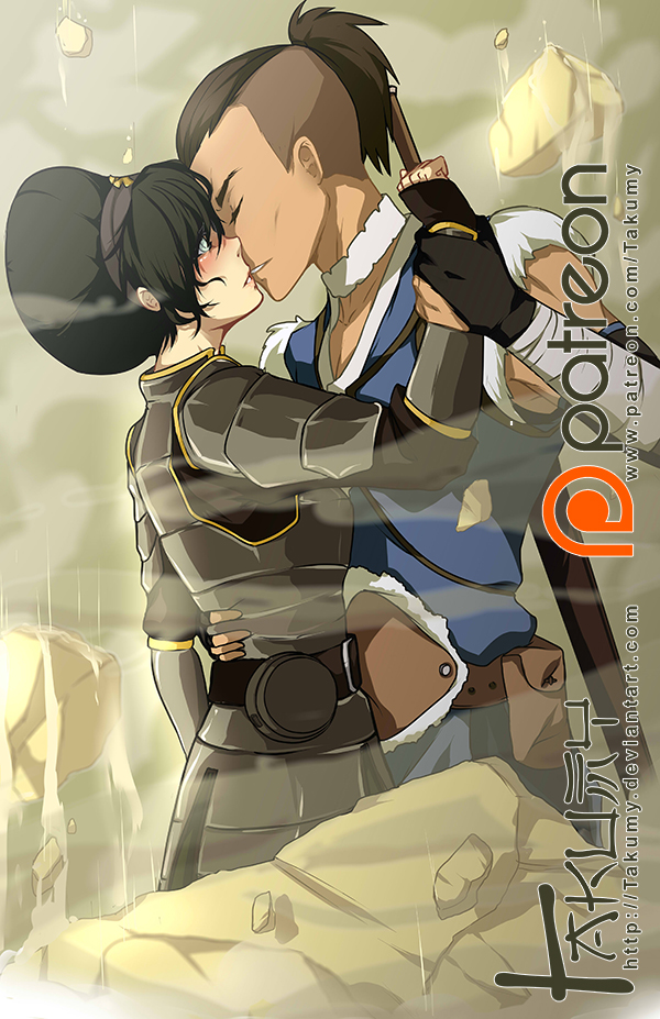 Toph and Sokka by Takumy
