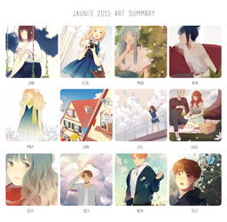 2015 summary of art by jauni
