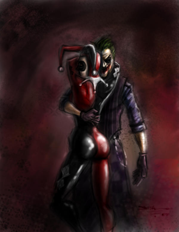 The Joker and Harley Quinn by devowankenobi