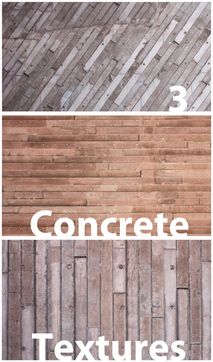 3 Free Concrete Textures by kropped