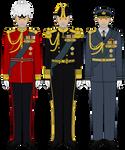 King Godric III of Saxonland in Full Dress Uniform