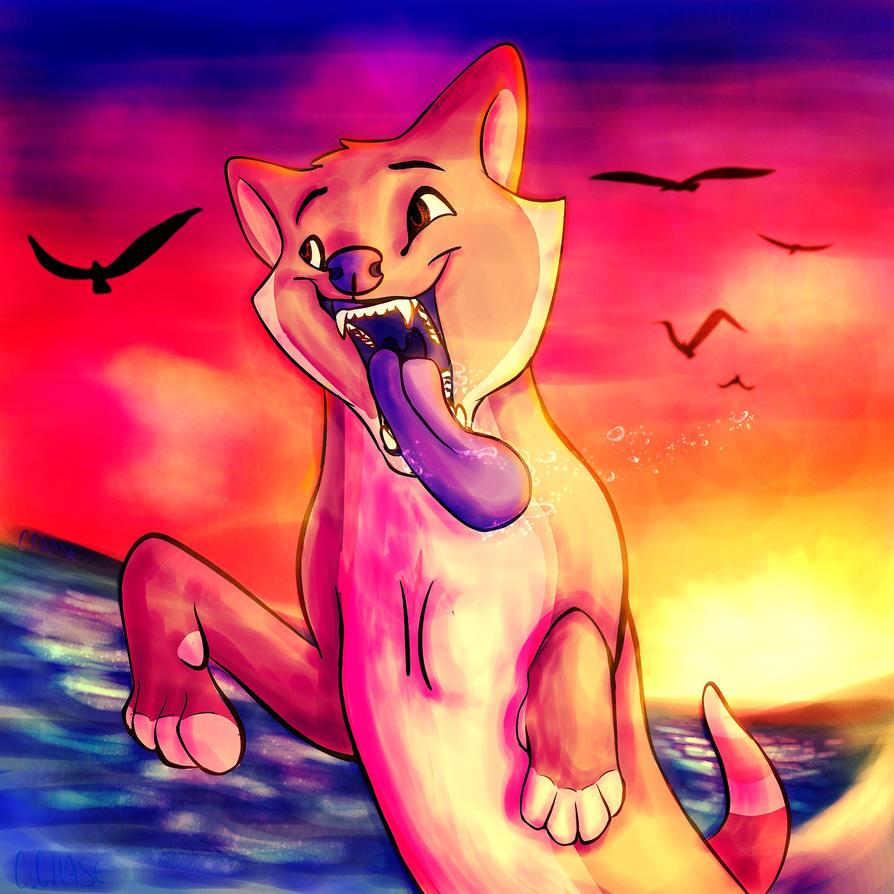 Some Doggo by the Ocean by pheonixthefirebird