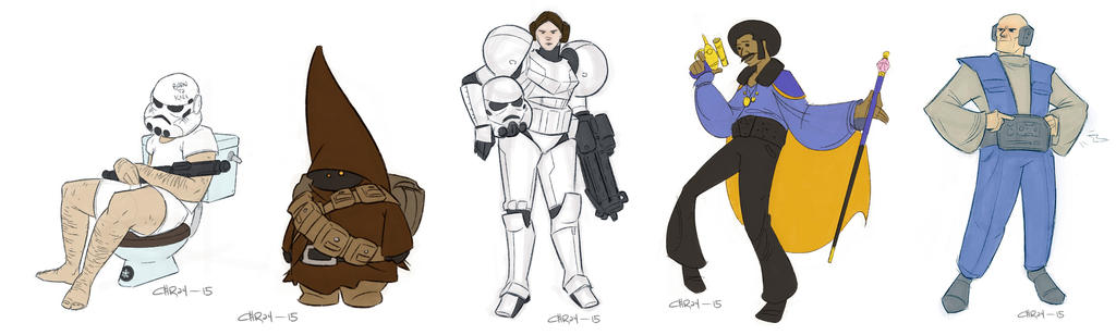 Draw Wars of Star Wars 6-10 by ironlotus