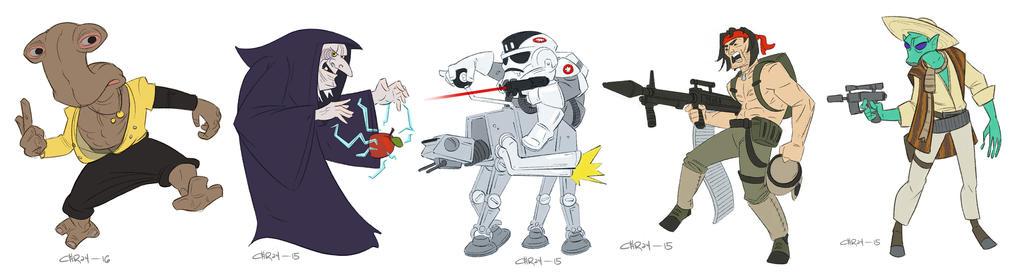 Draw Wars of Star Wars 11-15 by ironlotus