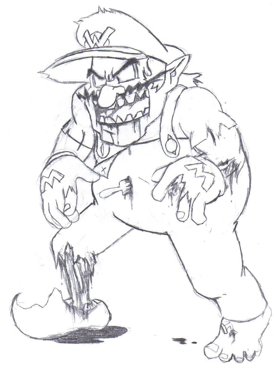zombie wario by dairyking on deviantart