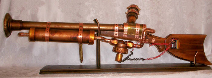 functional Steampunk rifle