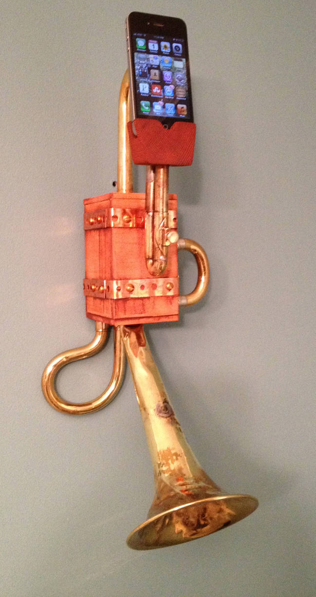 Steampunk Wall hanging iPhone Dock