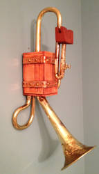 Steampunk Wall hanging iPhone Dock 1