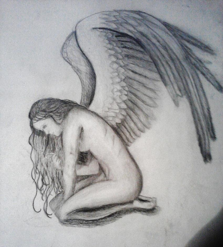 Sad Angel Drawing Sad Angel by Silva09cinthia