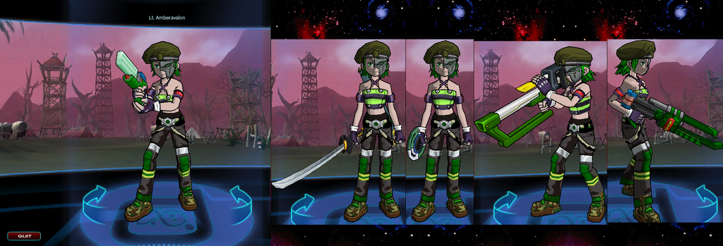 There was a Katana in FusionFall??? Lieutenant_amber_avalon_by_jake_brake-d6kitst